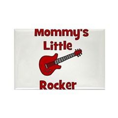 Mommy's Little Rocker Rectangle Magnet