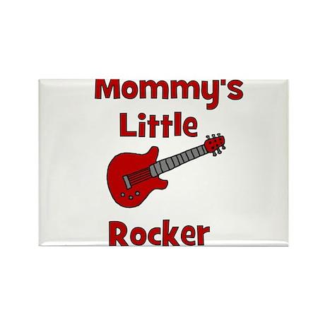 Mommy's Little Rocker Rectangle Magnet