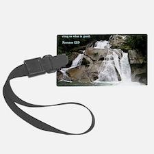 Romans 12-9  Waterfall Luggage Tag