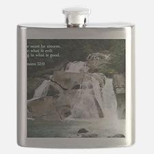 Romans 12-9  Waterfall Flask