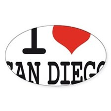 I LOVE SAN DIEGO Decal