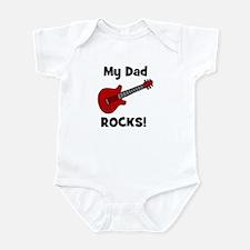 My Dad Rocks! (guitar) Infant Bodysuit