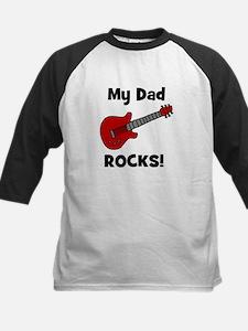 My Dad Rocks! (guitar) Kids Baseball Jersey