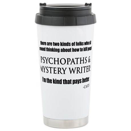 Mystery Writers Hat Stainless Steel Travel Mug