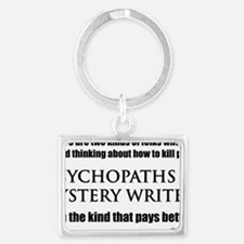 Mystery Writers Hat Landscape Keychain