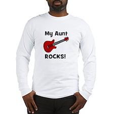 My Aunt Rocks! (guitar) Long Sleeve T-Shirt
