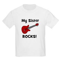 My Sister Rocks! (guitar) Kids T-Shirt