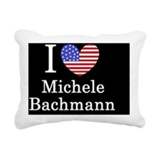 Michele Bachmann I loveb Rectangular Canvas Pillow