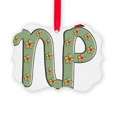 NP green flowers ladybug Ornament