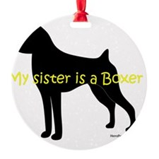 SisterIsABoxer Ornament