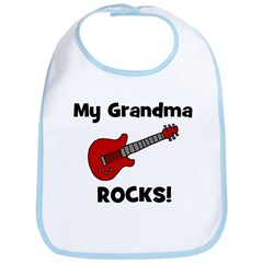 My Grandma Rocks! (guitar) Bib