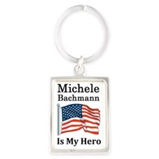 Michele Bachman is my hero Portrait Keychain