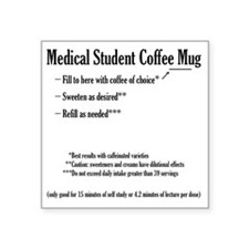 "medstumug Square Sticker 3"" x 3"""