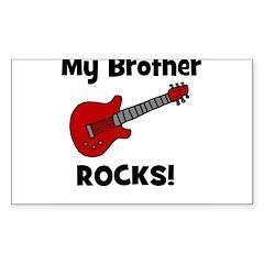 My Brother Rocks! (guitar) Rectangle Decal