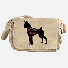 HeartMyBoxer Messenger Bag