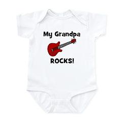 My Grandpa Rocks! (guitar) Infant Bodysuit