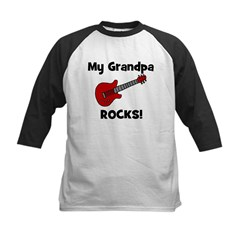 My Grandpa Rocks! (guitar) Kids Baseball Jersey