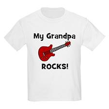 My Grandpa Rocks! (guitar) Kids T-Shirt