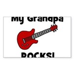 My Grandpa Rocks! (guitar) Rectangle Sticker