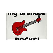 My Grandpa Rocks! (guitar) Rectangle Magnet