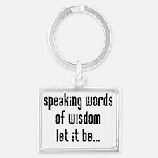 speaking.gif Landscape Keychain