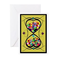 Candy Hearts Time and Love Greeting Card