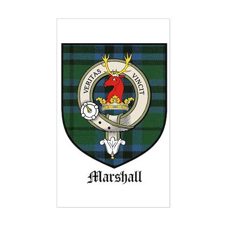 Marshall Clan Crest Tartan Rectangle Sticker