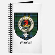 Marshall Clan Crest Tartan Journal