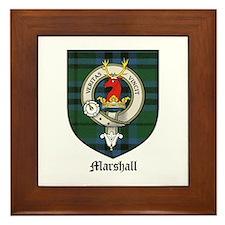 Marshall Clan Crest Tartan Framed Tile