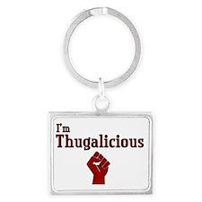 Thugalicious Landscape Keychain