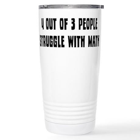 Math Struggle Stainless Steel Travel Mug