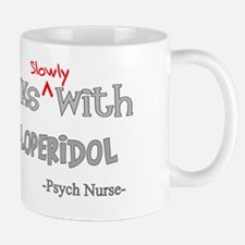 psych nurse walks with Haloperidol Mug