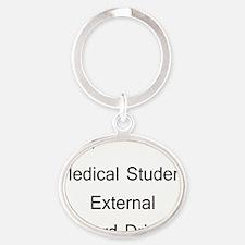 10x10medhard drive Oval Keychain