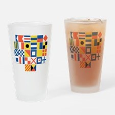 Nautical Flags Drinking Glass