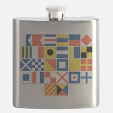 Nautical Flags Flask