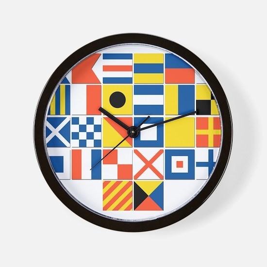 Nautical Flags Wall Clock