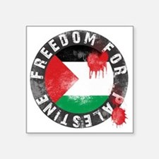 "freedom for palestine Square Sticker 3"" x 3"""
