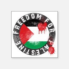 "freedom for palestine Square Sticker 3"" x 3"""
