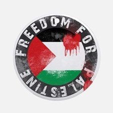 freedom for palestine Round Ornament