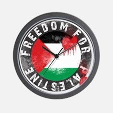 freedom for palestine Wall Clock
