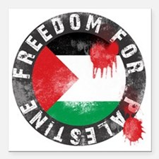 """freedom for palestine Square Car Magnet 3"""" x 3"""""""