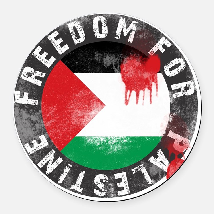 freedom for palestine Round Car Magnet