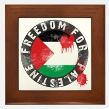 freedom for palestine Framed Tile