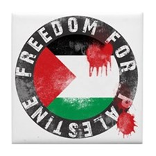 freedom for palestine Tile Coaster