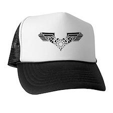 11NEGATIVheart eagleTRANS Trucker Hat