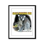 Ring-tailed Lemur Framed Panel Print
