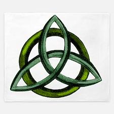 Triquetra Green King Duvet