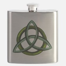 Triquetra Green Flask