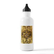 Antique_Gold_Floral_Pa Water Bottle