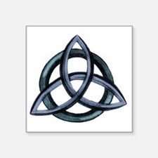 "Triquetra Blue Square Sticker 3"" x 3"""